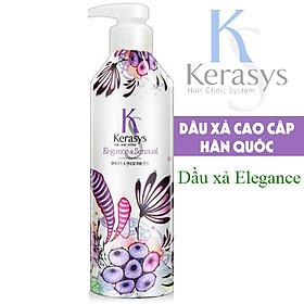 Dầu xả nước hoa Kerasys Elegence & Sensual hương violet và xạ hương Hàn Quốc 600ml tặng kèm móc khoá-1