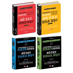 Sách - Sổ tay toán học, sổ tay hóa học, sổ tay hình học, sổ tay khoa học - Á Châu Books ( Bộ 4 cuốn, Tiếng Việt )