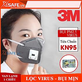 Khẩu trang N95 3M 9541V Khẩu trang 3D 5 lớp kháng khuẩn, chống bụi mịn, phòng dịch, tiêu chuẩn KN95 chính hãng
