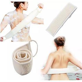 Dây Tắm Xơ Mướp Cao Cấp ECODEALS 100% xơ mướp hữu cơ diệt khuẩn - Mềm mại, nhẹ nhàng tẩy da chết, ngừa mụn lưng, kỳ cọ và massage siêu đã - 1 cái KT 10 x 30 x 80 cm