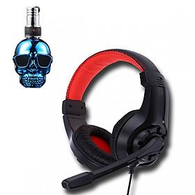 Tai nghe chụp tai G1 kèm mic đàm thoại dành cho Game thủ chống nhiễu, chống ồn tốt + tặng hộp quẹt bật lửa bay mặt ma cao cấp (màu ngẫu nhiên)