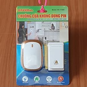 Chuông cửa không dùng pin - chuông cửa không dây có nút nhấn chống nước và không dùng pin - Chuông cửa không dây Decom cao cấp xuyên vật cản