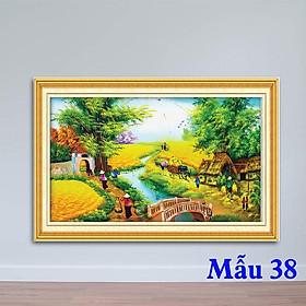 Tranh phong cảnh làng quê, tranh làng quê, tranh non nước Việt Nam