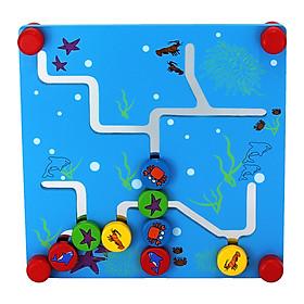 Đồ chơi gỗ Bảng mê cung sinh vật biển Colligo 81287