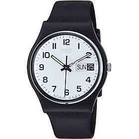 Swatch Women's GB743 Once Again Black Plastic Watch