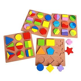 Bảng học hình khối bằng gỗ nổi