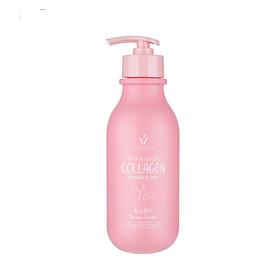 Sữa tắm dưỡng trắng và sáng mịn da Scentio Pink Collagen Shower Serum 350ml