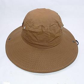 Mũ tai bèo vành rộng nam chống nắng tốt bảo vệ da - Chất liệu vải kaki oát mát mẻ, bền chắc - Sử dụng khi làm việc ngoài trời NBN05