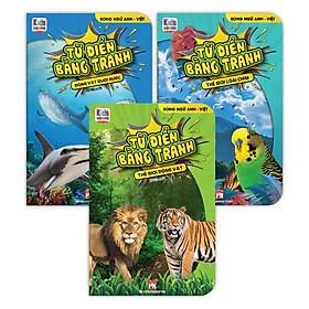 Sách - Từ Điển Bằng Tranh - Động Vật Dưới Nước - Thế Giới Động Vật - Thế Giới Loài Chim (Bộ 3 cuốn bìa cứng)