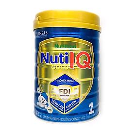 Sữa Nuti IQ Gold 1 900g (mới) - Phát triển não bộ và thị giác, Tăng cường sức đề kháng, Phát triển cân nặng - chiều cao, Tiêu hoá - hấp thu tốt, Ngăn ngừa táo bón