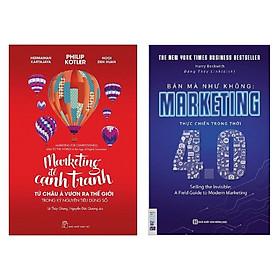Combo 2 cuốn sách hay về Marketing: Marketing Để Cạnh Tranh + Bán Mà Như Không Marketing Thực Chiến Trong Thời 4.0 ( Tặng kèm Bookmark Thiết Kế)