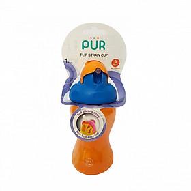 Bình uống nước 250ml ống hút nắp bật (không quai) Pur nhập khẩu Thailand cho bé (đa màu)