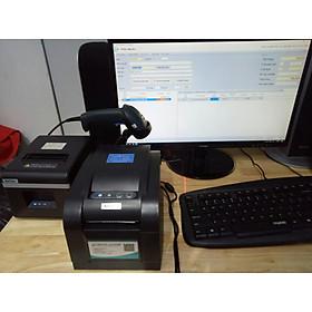 Bộ thiết bị quản lý shop thời trang: Máy in tem mã, máy in hóa đơn, máy quét mã vạch