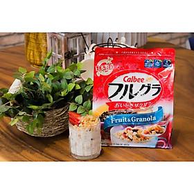 Ngũ cốc trái cây ăn liền Calbee (gói đỏ) - Loại 482gr - Nhập khẩu Nhật Bản