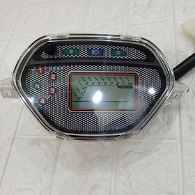 Đồng hồ điện tử dành cho xe wave alpha, wave 100, wave 110, wave zx  đời 2002 đến 2006 ĐO TUA MÁY, ĐỒNG HỒ BÁO GIỜ (TIME), ĐÈN LED 7 MÀU (ĐỔI THEO Ý THÍCH) - 640