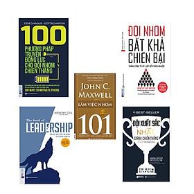 Bộ sách cần có cho đội nhóm vô địch : 100 phương pháp thúc đẩy đội nhóm + đội nhóm bất khả chiến bại + Leadership + đội nhóm xuất sắc nhất giành chiến thắng + 101 làm việc nhóm ( tặng sổ tay mini KZ )