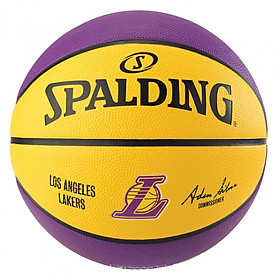 Bóng rổ Spalding NBA Team Los Angeles Lakers 83-510Z Outdoor size 7- Tặng kèm Kim bơm bóng và Túi lưới đựng bóng Sodex