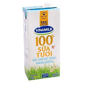 [Chỉ giao HCM] Sữa tươi tiệt trùng Vinamilk 100% không đường hộp giấy 1 lít-3002954