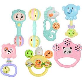 Bộ đồ chơi lục lạc 7 món các nhân vật ngộ nghĩnh, vui nhộn dành cho bé, chất liệu an toàn phù hợp với trẻ nhỏ
