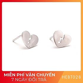 Bông hoa tai nữ bạc s925 cao cấp HEBT028 BH trọn đời