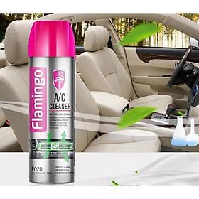 Xịt Bọt Vệ Sinh Khử Mùi Hôi Điều Hòa Ô Tô Flamingo F020 500ml - Chính Hãng