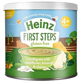 Bột ăn dặm Heinz 4m+ 240gr Ngũ cốc, Súp lơ, Bông cải và Phô mai