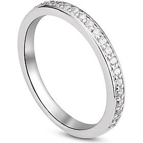 Nhẫn bạc nữ Đính đá cổ điển - Trang sức bạc ta -Kèm hộp (NN.A17.B)