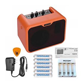 Ampli Đàn Guitar Acoustic Joyo 10W MA-10A - Nguồn, 6 Cục Pin Sạc, Bộ Sạc Pin - Chính hãng (Loa Amply Nhạc Cụ Mộc Khuếch Đại Âm Thanh Amplifier) - Kèm Móng Gảy DreamMaker