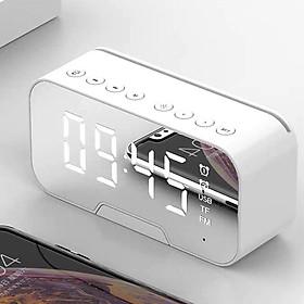 Loa bluetooth kèm đồng hồ, đồng hồ đo nhiệt độ, mặt tráng gương sang trọng