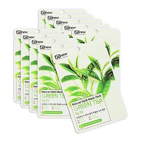 Mặt Nạ Trà Xanh Benew Natural Herb Mask Green Tea COMBO 10 LÁ (Hộp 10 Miếng x 22ml)