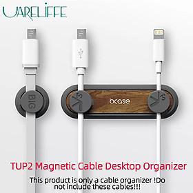 Bộ giữ sạc điện thoại máy tính để bàn Uareliffe TUP2 thiết kế bằng gỗ, Giá đỡ dây sặc Máy tính để bàn