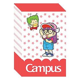Lốc 10 Cuốn Vở Kẻ Ngang B5 Có Chấm Campus Arale Gacchan-Star NB-BARS120 -  ĐL 70 (120 Trang) - Mẫu Ngẫu Nhiên