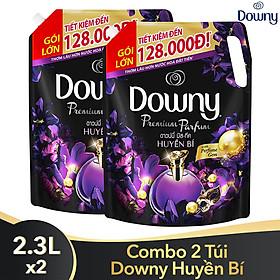 Combo 2 Túi Nước Xả Vải Downy Hương Nước Hoa Huyền Bí (2.3L/ Túi) - Công nghệ nước hoa mới - Lưu hương bền lâu