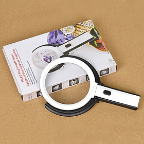 Kính lúp có đèn cầm tay kiêm chân đế để bàn ( Tặng kèm 01 quạt vỏ nhựa mini cắm cổng USB màu ngẫu nhiên )