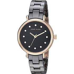 Anne Klein Women's AK/3312 Swarovski Crystal Accented Ceramic Bracelet Watch