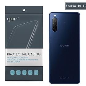Ốp silicon cho Sony Xperia 10 II (mark 2) - Silicon trong suốt hãng GOR Hàng nhập khẩu