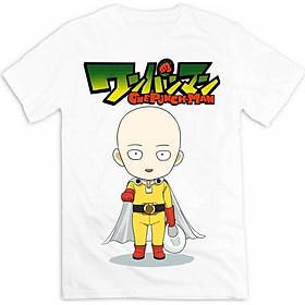 Áo Thun Unisex Mirako One Punch Man 01-Saitama - Trắng