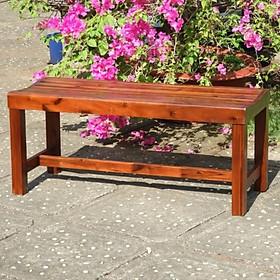 Ghế băng sân vườn gỗ tự nhiên Juno Sofa (màu nâu gỗ)