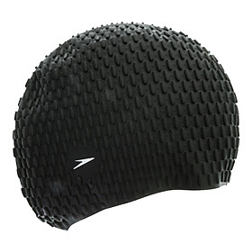 Nón Bơi Speedo Acc Cap 8709290001 Bubble Cap Black 270519 (Size One Size)