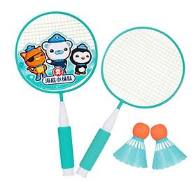 Đồ chơi cầu lông cho bé trai và bé gái, màu ngẫu nhiên ( có sẵn 2 quả cầu)+Tặng kèm hộp đựng bút hình hộp sữa- Bộ 2 vợt cầu lông trẻ em