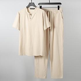 {ĐŨI MỚI HÀNG VỀ} Bộ quần dài tay ngắn, Hàng chuẩn chất, Chuẩn phom dáng, Đũi thái chuẩn 100%, Dầy dặn, Cực thoải mái!!!