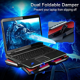 2x Laptop Cooling Pad 12-17\'\' Notebook Silent Cooler Stand With 4Fan 1400RPM