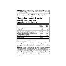 Solaray, Calcium Magnesium Zinc Amino Acid, 250 Veg Capsules