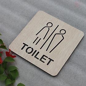 Bảng Gỗ Vintage Decor Toilet - WC Nam Nữ - Resroom Chỉ hướng nhà vệ sinh