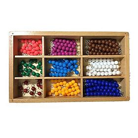 Giáo cụ Montessori Hộp hạt cườm nhiều màu