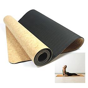 Cork Yoga Mat Natural Cork Mat Anti-slip Exercise Mat Travel Mat-2
