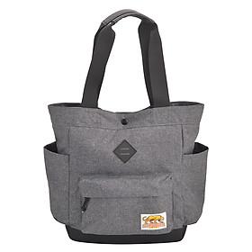 Túi Đeo Vai Tote Bags - Waxed Cotton Stronger Bags S21_6 (37 x 35 cm) - Xám
