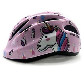 Mũ Bảo Hiểm Xe Đạp Trẻ Em, Mũ Trượt Patin, Mũ Dành Cho Họat Động Ngoài Trời Cao Cấp Protec Smile 024 Họa Tiết Ngựa Pegasus Thần Thoại - Hành Chính Hãng