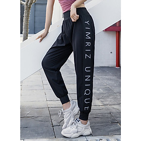 Quần Jogger nữ Louro QL101, mẫu quần tập gym nữ dáng rộng che mọi khuyết điểm, phù hợp tập luyện, đi chơi