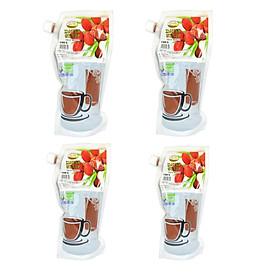 Combo 04 túi Siro chà là nhập khẩu - Ăn ngọt không lo tiểu đường - túi 1,3kg - thức uống tinh tinh túy từ thiên nhiên.